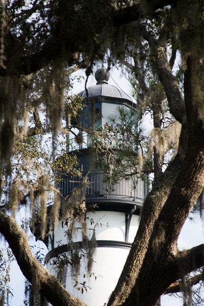 The Amelia Island Light is a lighthouse located on the north end of Amelia Island at the mouth of the St. Mary's River. It was built in 1838 using materials taken from the former Cumberland Island lighthouse in Georgia. The Cumberland Island lighthouse had been built in 1820. The lighthouse marks the entrance to Nassau Sound and the harbor for Fernandina Beach, Florida.