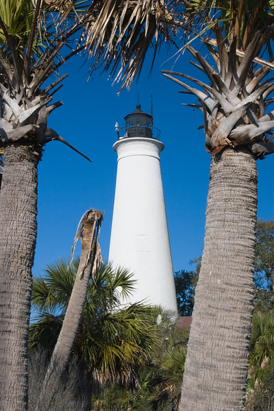 St. Mark's Lighthouse, located in the St. Marks National Wildlife Refuge on the Gulf Coast of Florida.