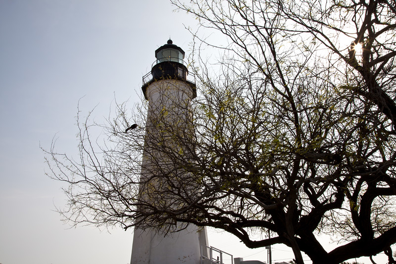 Port Isabel Lighthouse and Texas state historic site in Port Isabel, Texas. Built in 1852, this 72 foot high lighthouse was one of 16 lighthouses built on the Texas Gulf Coast. Only 2 of these remain as lighthouses open to the public. A museum and replica of the keeper's quarters is on the property.