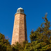 Old Cape Henry Lighthouse on the grounds of Fort Story in Virginia.