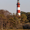 Assateague Lighthouse, built in 1867, on Assateague Island on the Eastern Seashore of Virginia.