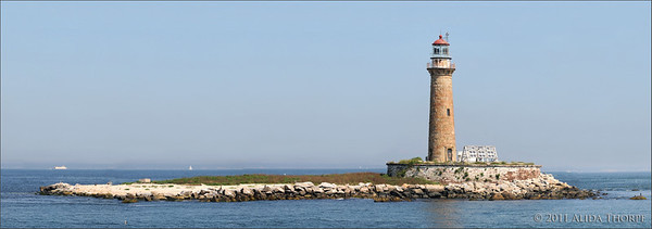 Little Gull lighthouse, panorama