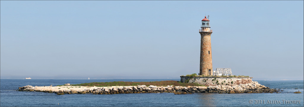 Little Gull lighthouse, panorama