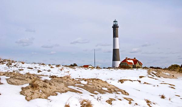Snowy Fire Island
