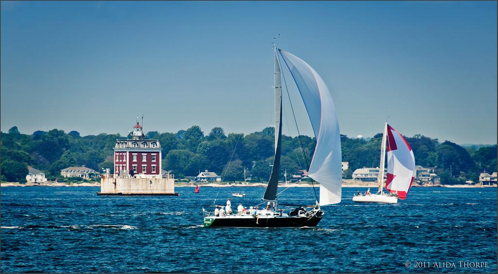 New London, Lighthouse, Long Island Sound