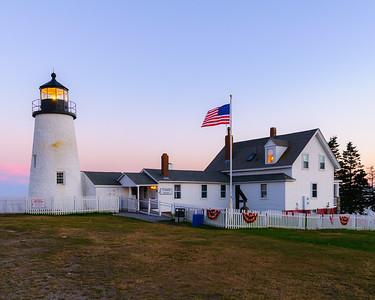 Pemaquid Lighthouse at Dusk