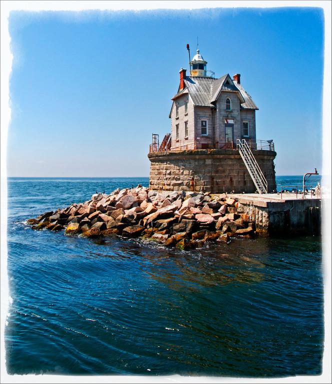 Race Rock Lighthouse with frame