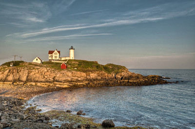 Cape Neddick Lighthouse Island in Evening Light