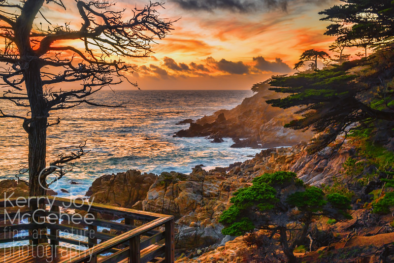 Sunset at Lone Cypress Point
