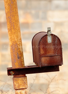 A rusted mailbox is all that remains from a factory in the NoDa Neighborhood/Arts District in Charlotte. (Photo: Kelly J. Owen)