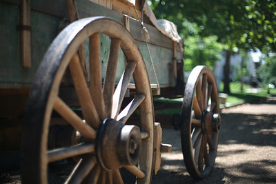 Wagon cart, Lincoln Home NHS, Springfield, Illinois