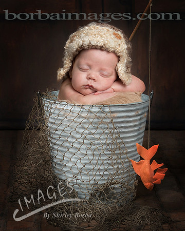 Newborn in a bucket