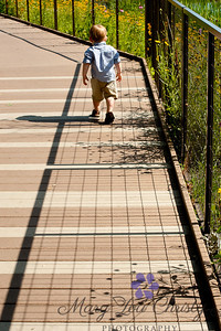 Freedom!  A toddler walks away.