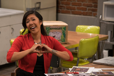 "Alicia Ying is all heart on the set of ""L.A. Beer."""