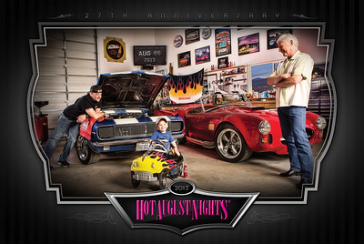 Lifestyle advertisement photography for Hot August Nights Poster.