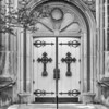 Door with crown of thorns