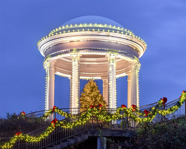 Sibyl Temple at Christmas