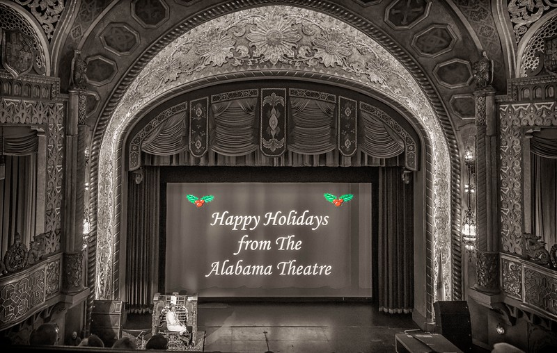 Christmas movies and sing along at the Alabama Theatre!