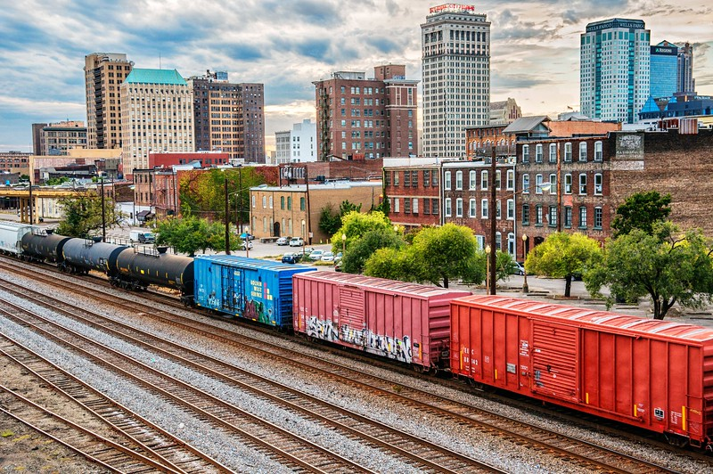 Skyline and trains!