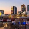 sun setting on Birmingham!