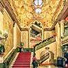 Alabama Theatre lobby at Christmastime!