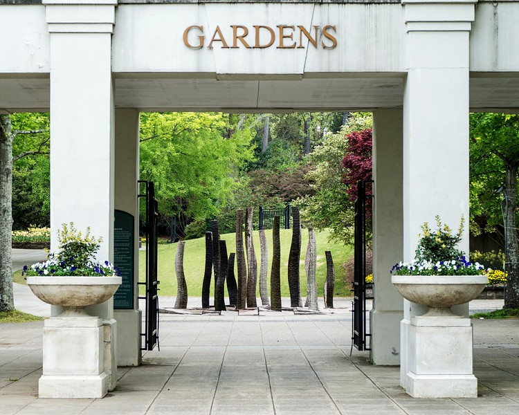 Entrance to Birmingham botanical gardens