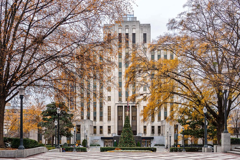 City Hall at Christmastime