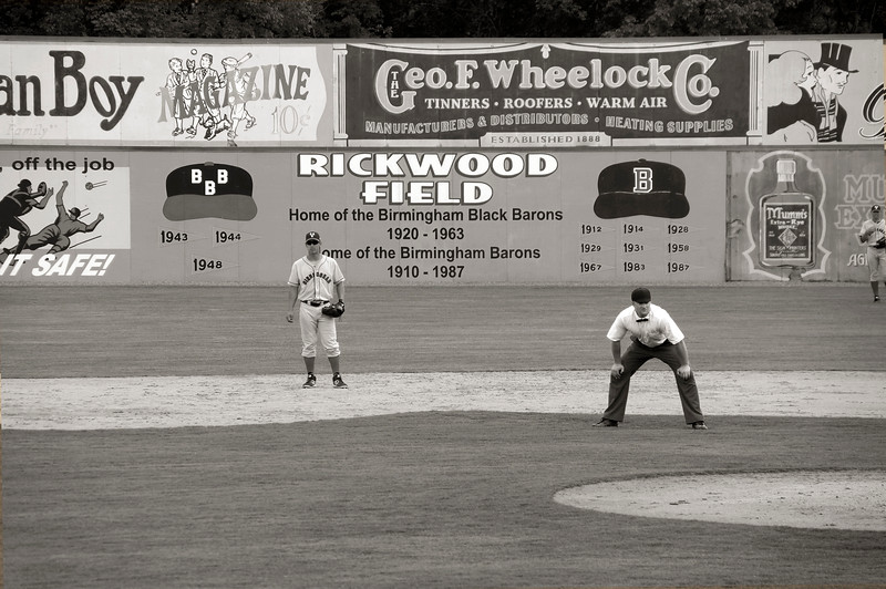 Umpire at Rickwood Field!