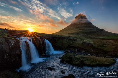 Midnight Sun at Kirkjufell