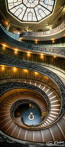 Vertical Panorama of the Momo Staircase, Vatican Museum