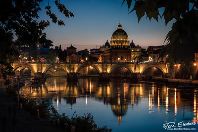 St. Peter's Basilica and the Ponte Sant' Angelo