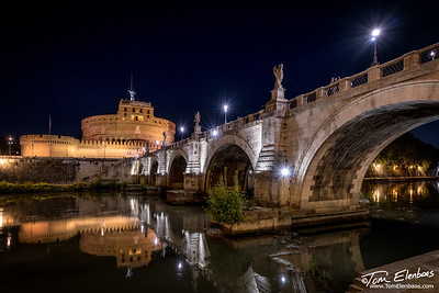 The Castel Sant' Angelo and the Ponte Sant' Angelo