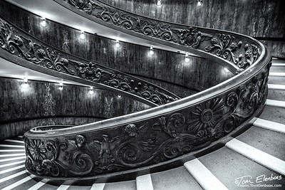 Detail of the Momo Staircase, Vatican Museum