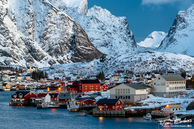 First Light at Reine