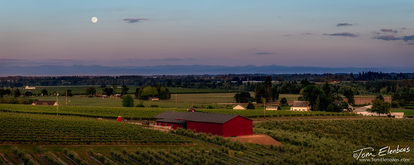 Willamette Valley Moonrise