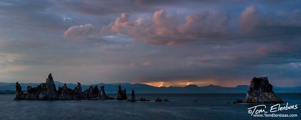 Lightning storm at Mono Lake