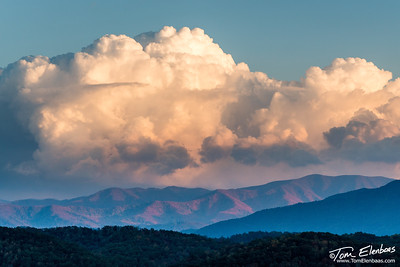 Sunset at Foothills Parkway West, Great Smoky Mountains N.P.