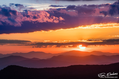 Sunset at Herrin Knob, Blue Ridge Parkway