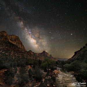 Milky Way over the Watchman, Zion N.P.