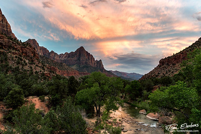 Sunset at the Watchman, Zion N.P.