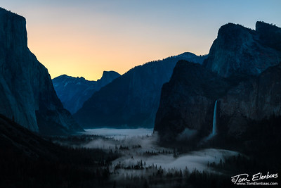 First Light in Yosemite Valley