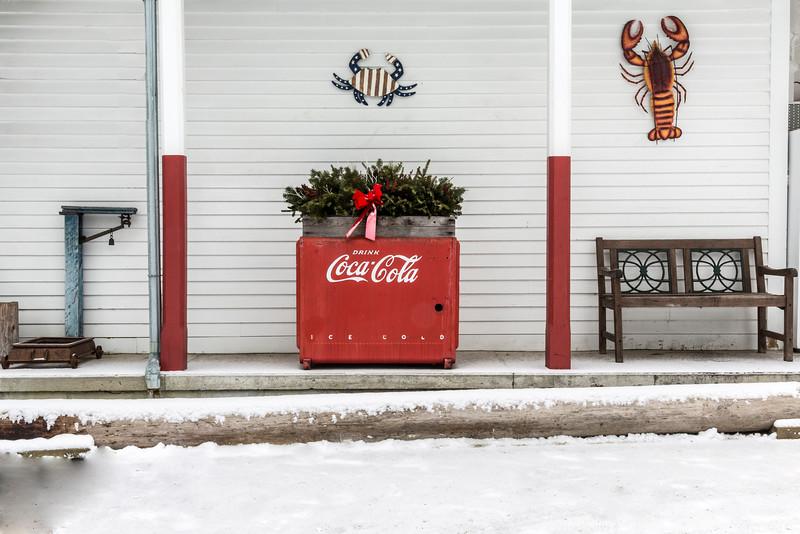 Town Landing Store Coke Refrigerator Chest