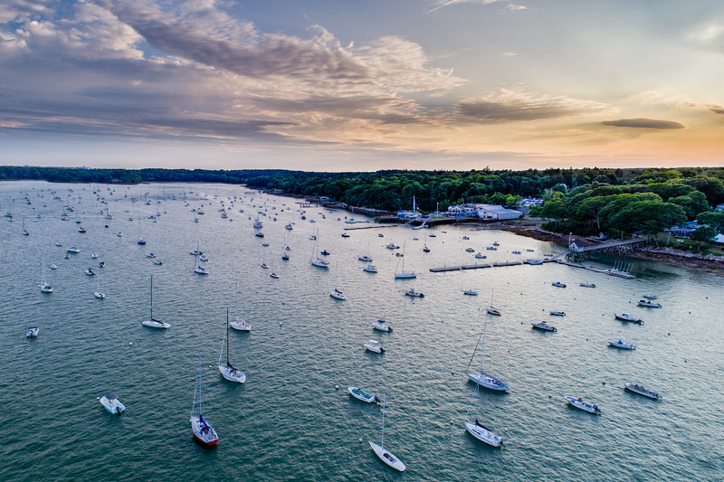 Falmouth Foreside - Boats at Anchor