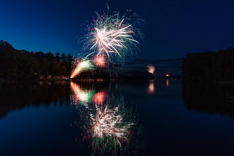Fireworks on Little Sebago