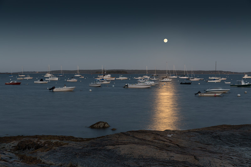 Super Moon Rising Over Town Landing
