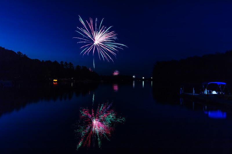 July 4th Fireworks on Little Sebago - 2018