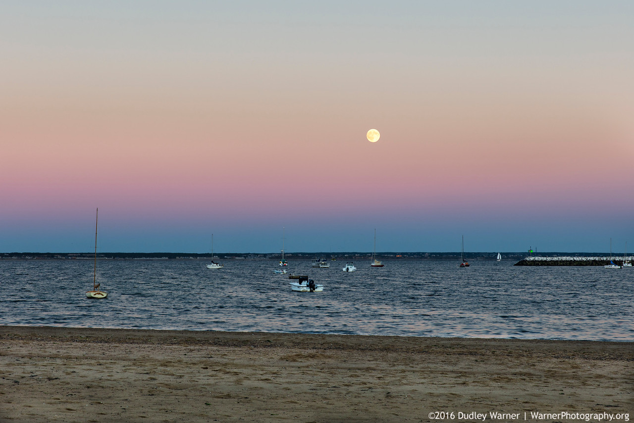 Provincetown Harbor with Super Moon