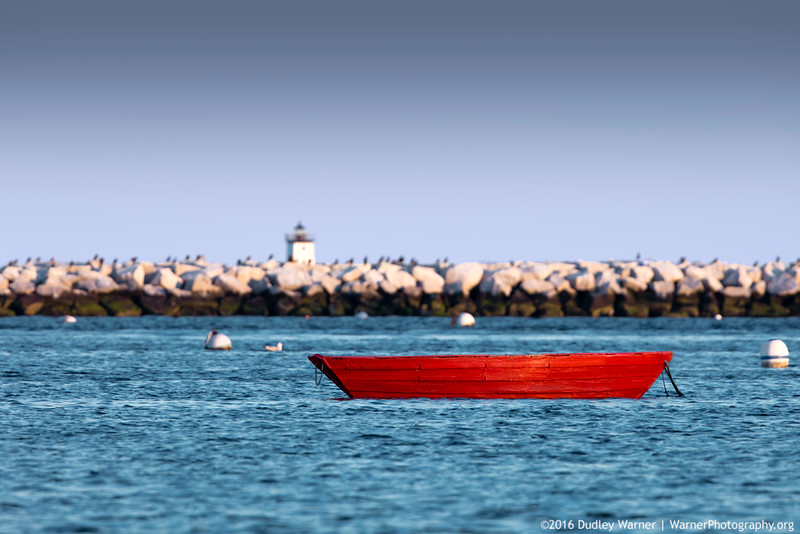 The Red Boat in the Provincetown Harbor