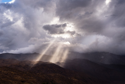 Crepuscular Rays over the Eastern Sierra