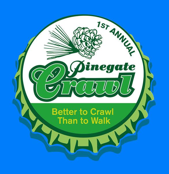 Pinegate Crawl Logo Design